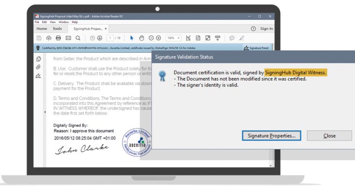 The exchanges are much more fluid with the electronic signature